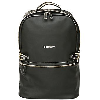 Enzo Design Leather Backpack Satchel With Vintage Style Finish