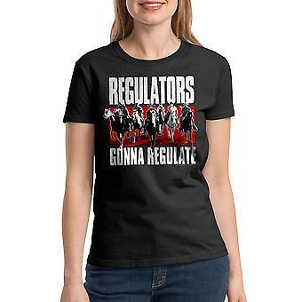 Young Guns Regulators Women's Black T-shirt