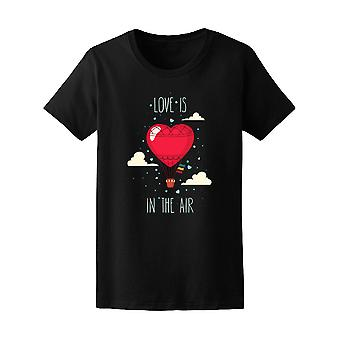 Love Is In The Hot Air Balloon Tee Women's -Image by Shutterstock
