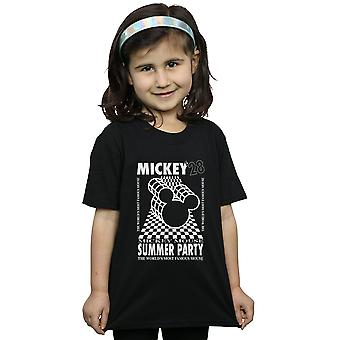 Disney Girls T-Shirt Mickey Mouse Summer Party