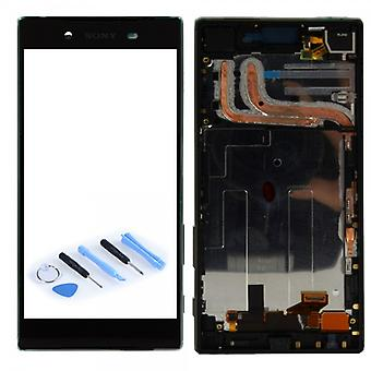 Sony display LCD complete unit with frame for Xperia Z5 dual E6633 E6683 black
