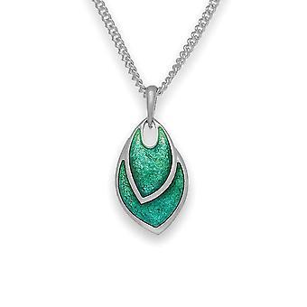 Sterling Silver handgjorda traditionella skotska ny gryning äng emalj halsband hänge