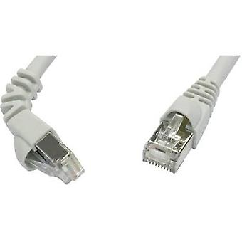 Telegärtner RJ45 Networks Cable CAT 6A S/FTP 5.00 m Grey Flame-retardant, incl. detent