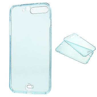 Crystal Case cover for Apple iPhone 7 plus blue frame full body
