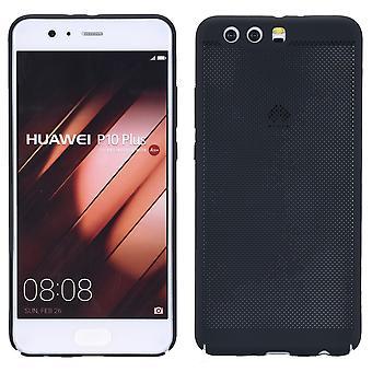 Handy Hülle für Huawei P10 Plus Schutzhülle Case Tasche Cover Etui Schwarz