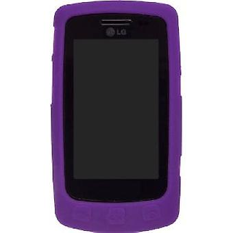 Silicone Gel Case for LG Bliss UX-700 UX700 - Purple