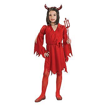 Djevelen jente djevelen kjole rød djevel kostyme for barn