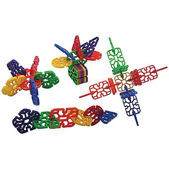 Bigjigs Jucării Educaționale Cool Crazy Connector (432 piese) Forme de constructii