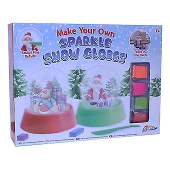 GRAFIX Make Your Own Glitter Snow Globes Clay Modelling Craft Set