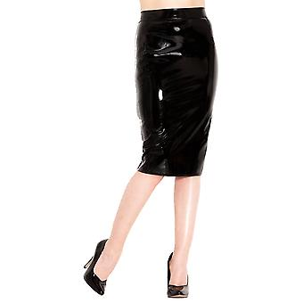 Honour Women's Sexy Classic Pencil Skirt in PVC 50s Old Hollywood Style