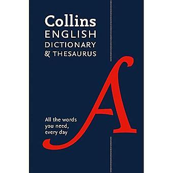 Collins English Dictionary och synonymordlista: pocketversion