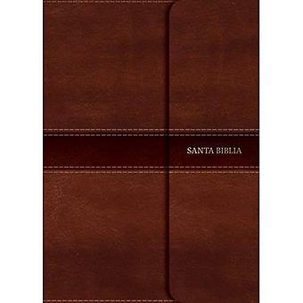 NVI Biblia Letra S per Gigante Marr n, S mil Piel Con ndice y Solapa Con Im n