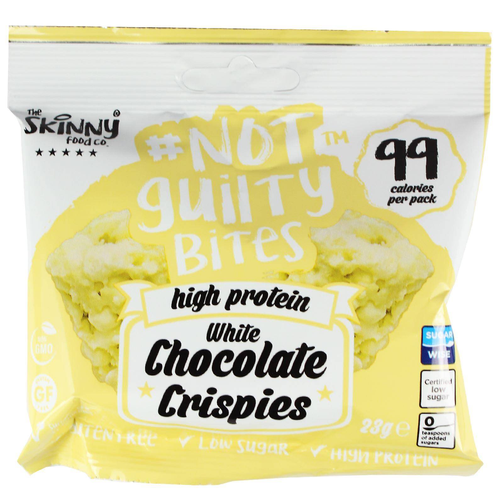 Skinny Foods Not Guilty Bites  White Chocolate Crispies 23g Pack