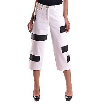 Kenzo Ezbc013006 Women's White Cotton Pants