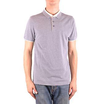Brunello Cucinelli Ezbc002027 Hombres's Camisa Polo de Algodón Gris