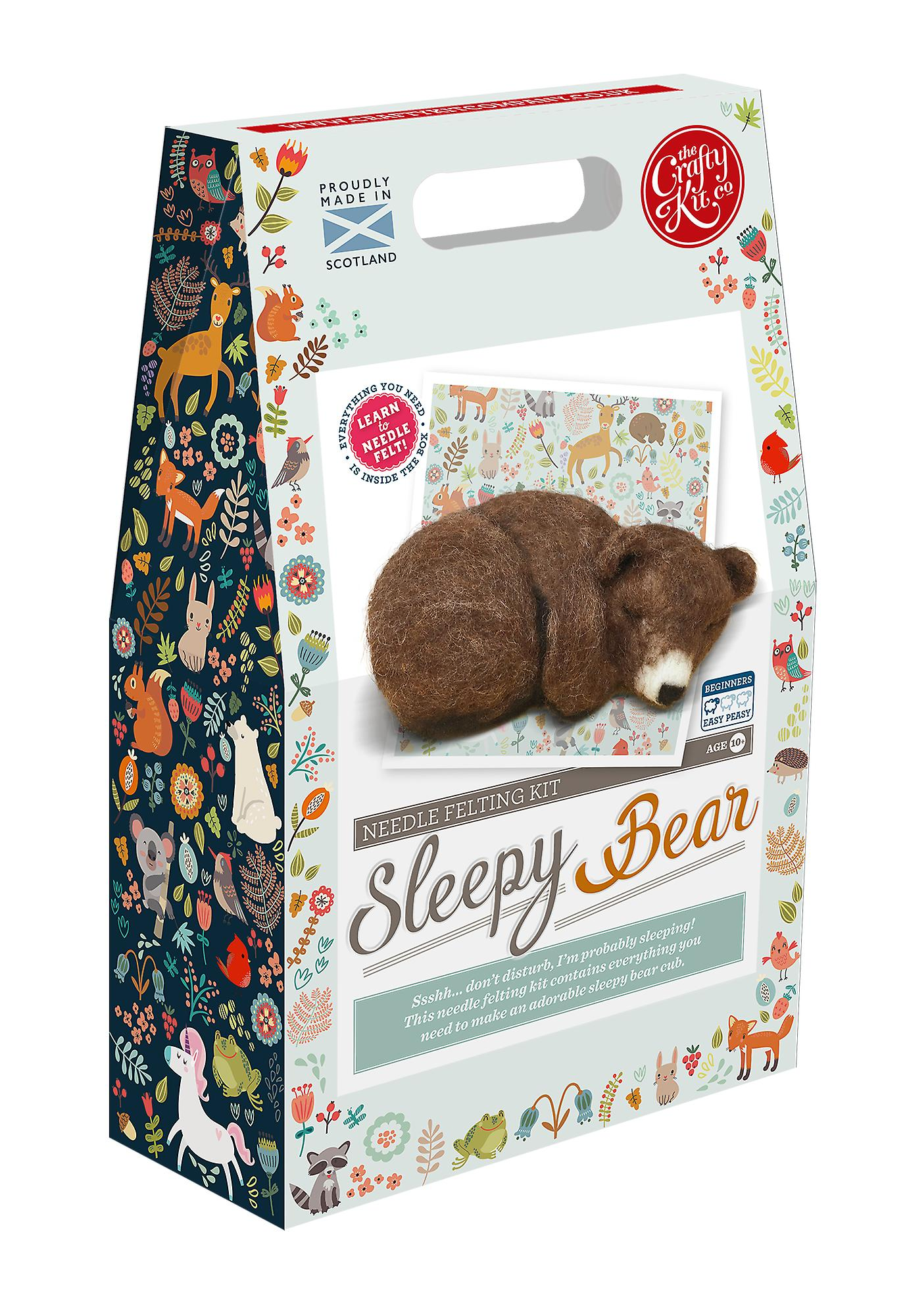 Sleepy Brown Bear Cub neula Huovutus Kit