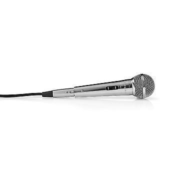 Nedis MPWD45GY Bedrade Microfoon Gevoeligheid -72 Db +/-3 Db 60 Hz - 14 Khz 5,0 M