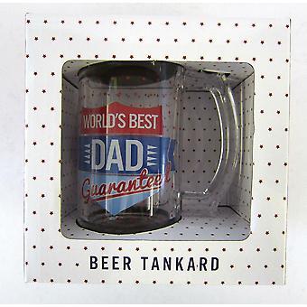Lesser & Pavey Worlds Best Dad Guaranteed Glass Beer Tankard LP33356