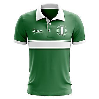 Nigeria-Konzept-Streifen-Polo-Shirt (grün)