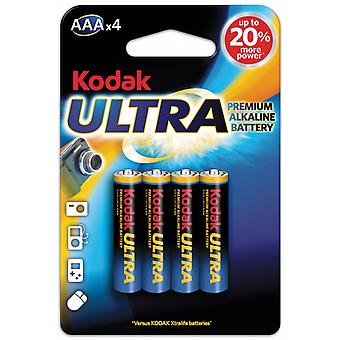 AAA Batteries 4-pack ,LR03 Kodak Ultra Alkaline Battery 1.5V