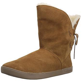 كولابورا من UGG شازي النسائية جلدية قصيرة مغلقة إصبع القدم الكاحل أحذية الطقس البارد