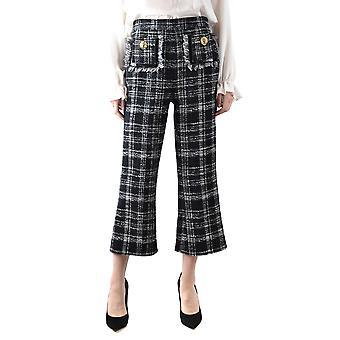 Elisabetta Franchi Ezbc050156 Women's Black Cotton Pants