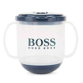Hugo Boss Boys Boss Kids Navy Sippy Cup With Logo Print