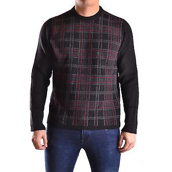 Meltin-apos;pot Ezbc262008 Men-apos;s Black/burgundy Wool Sweater