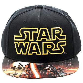 Star Wars VII Poster Sublimated Snapback Cap