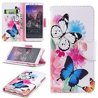 For Huawei Y6 2019 faux leather bag Book Motif 39 Protection Case Case Cover Case New