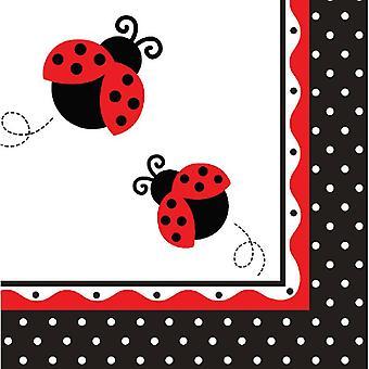 Joaninha guardanapos de festa 33x33 cm 16 Piece Beetle festa de aniversário das crianças