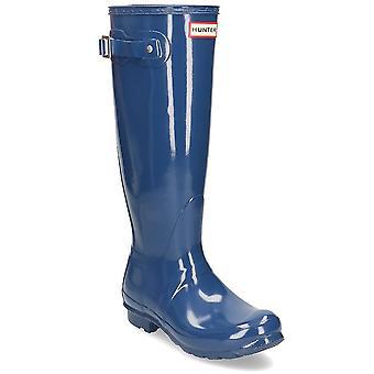 Hunter Original Tall Gloss WFT1000RGLPEAKBLUE vand hele året kvinder sko