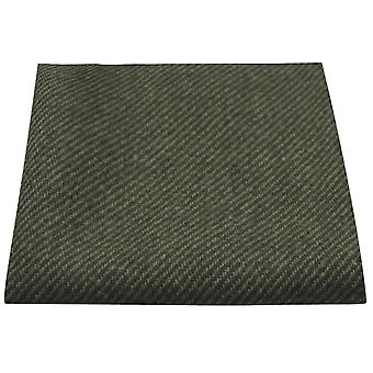 Dark Green Sharkskin Pocket Square, Handkerchief