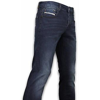 Exclusive Basic Jeans - Regular Fit Casual 5 Pocket - Donker Blauw
