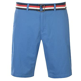 Pierre Cardin Mens Belted Chino Shorts