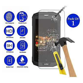 Pack of 1 Tempered Glass Screen Protection For Agm A8 5