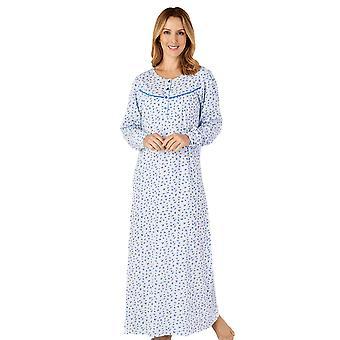 Slenderella ND4113 kvinder ' s Jersey blomstret bomuld natkjole