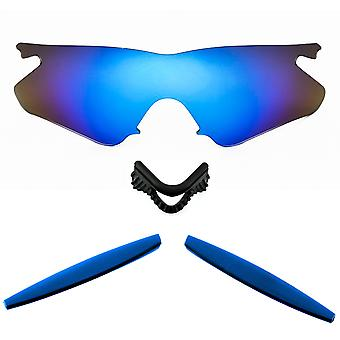 Polarized Replacement Lenses Kit for Oakley M Frame Heater Blue Mirror Blue Anti-Scratch Anti-Glare UV400 by SeekOptics