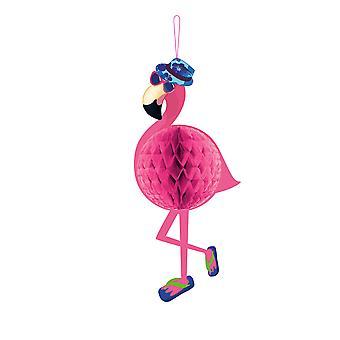 Honeycomb dekorasjon Wabendeko Flamingo bursdag fest Flamingodeko 22x58cm