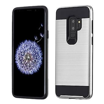 ASMYNA Silver/Black Brushed Hybrid Case pour Galaxy S9 Plus