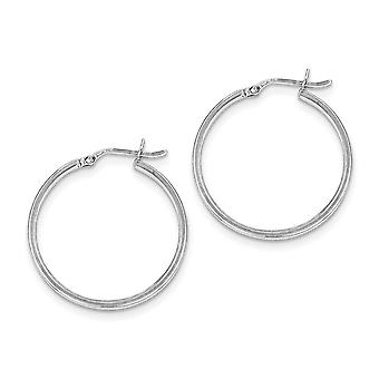 925 Sterling Silver Rhodium-plated Rhodium Plated Hinged Earrings - 2.1 Grams