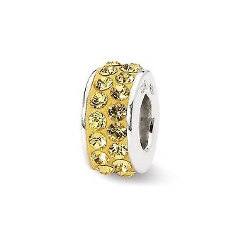 925 plata esterlina pulido reflexiones Nov doble fila cristal perla encanto colgante collar regalos de joyería para las mujeres