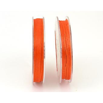 10m Orange 7mm Wide Organza Craft Ribbon | Ribbons & Bows for Crafts