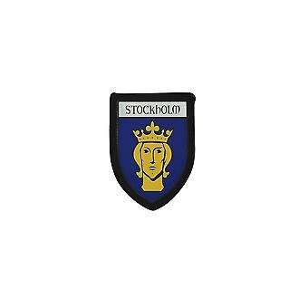 Ultraschall Brode Thermocollant Drucke Blason Patch Flagge Ecusson Stockholm Wildleder