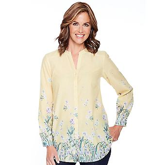 Amber Ladies Border Print Blouse