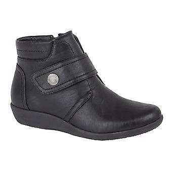 Boulevard Womens/Ladies Wide Fit Ankle Boots