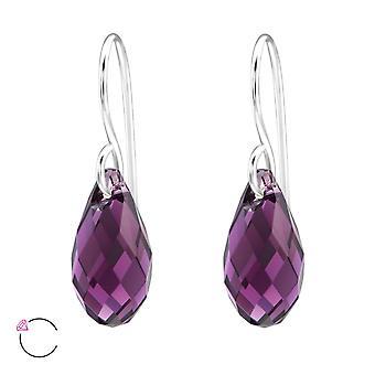 Träne Kristall aus Swarovski® - 925 Sterling Silber Ohrringe - W29467x