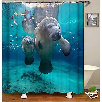 Sea Cows Shower Curtain