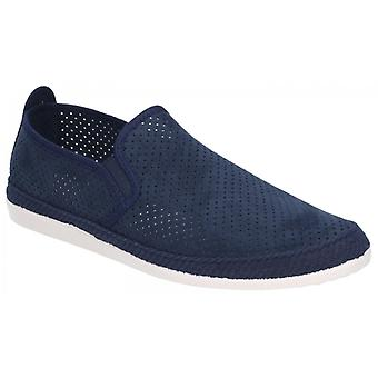 Flossy Vendaval Mens Perforated Slip On Plimsolls Navy