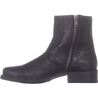 FRYE Womens Veronica Leather Distressed Motorcycle Boots